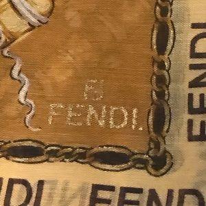 """Fendi Accessories - Fendi Scarf 100% Cotton 17.5"""""""